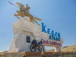 Leaving Kegen Region. Kegen Region, Kazakhstan