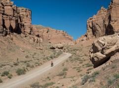 Way back. Charyn Canyon, Kazakhstan