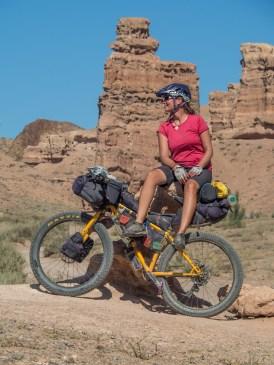Dasha. Charyn Canyon, Kazakhstan