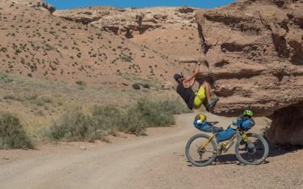 Bike and Climb. Charyn Canyon, Kazakhstan
