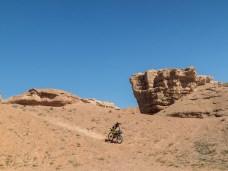 Heavy things goes down. Charyn Canyon. Kazakhstan