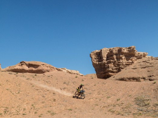 Heavy things goes down. Charyn Canyon. Kazakhstan