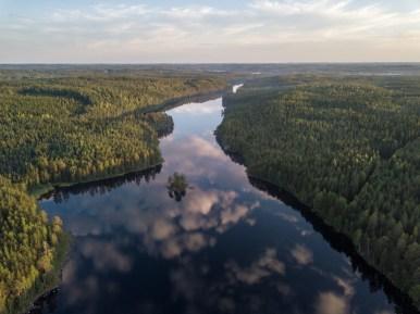 Jezero Pitkäjärvi, Mäntyharju, Finsko