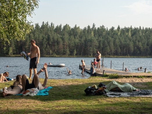 Finnish swimming fever. Finland