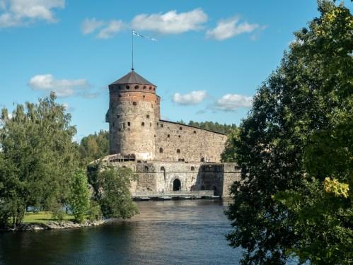 Hrad Olavinlinna. Savonlinna, Finsko