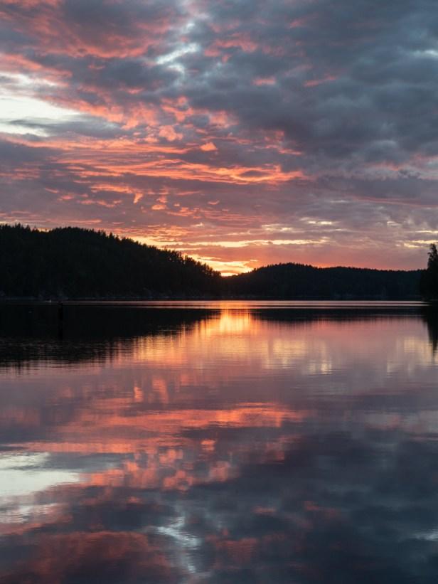 Sunset. Kolovesi National Park, Finland
