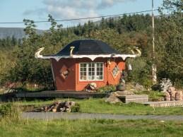 Tiny viking's hut. Vesterålen, Norway