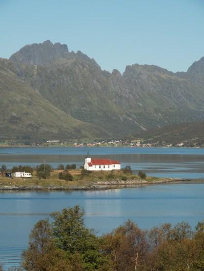 A church. Vågan, Norway