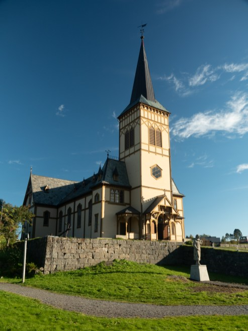Vågan church. Kabelvåg, Norway