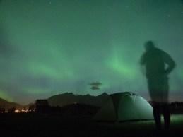 Aurora Borealis. Leknes, Norsko