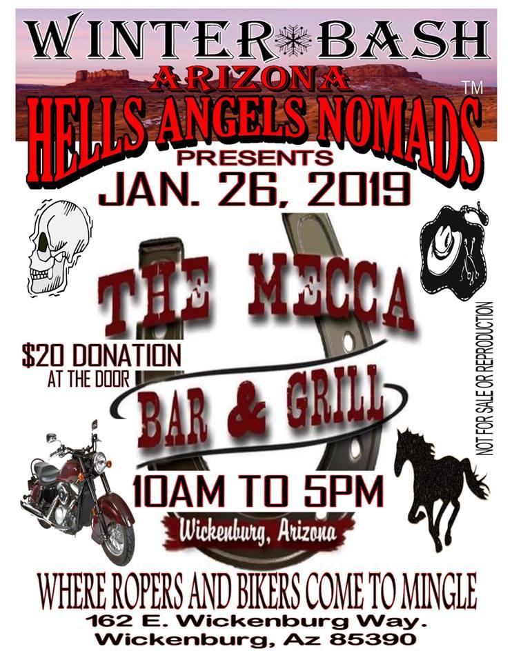 Winter Bash - Arizona Hells Angels Nomads - BikerCalendar events