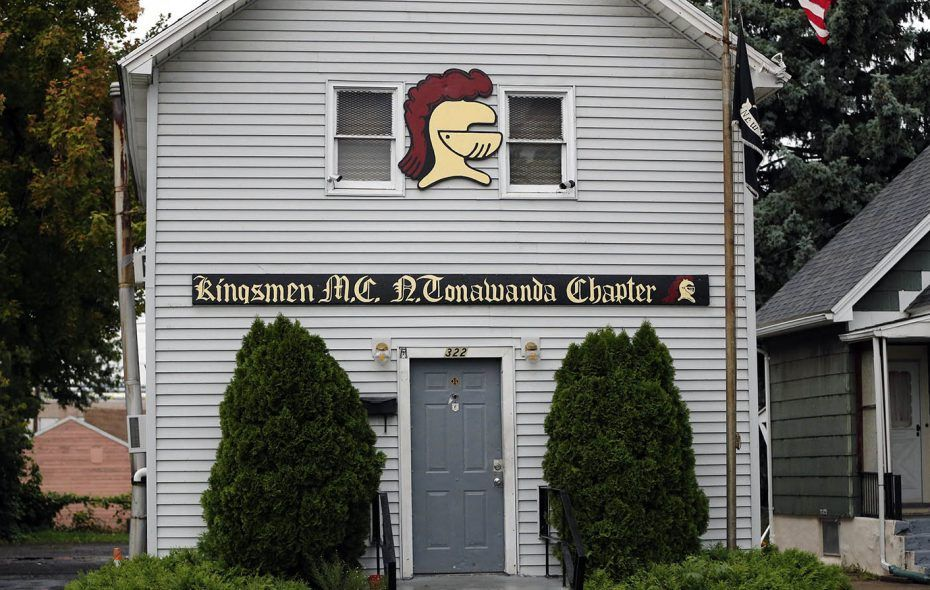 The Kingsmen Motorcycle Club on Oliver Street in North Tonawanda, where two members were killed execution-style on Sept. 6, 2014. (Derek Gee/News file photo)