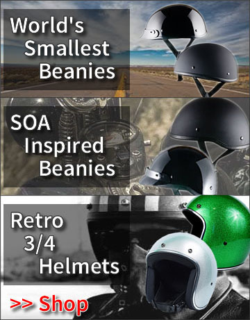 Worlds Smallest, Lightest and Lowest Profile Motorcycle Helmets by WSB Inc