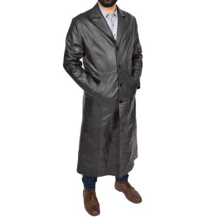 Men's Full Length Blazer Crombie Coat