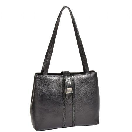 Women's Soft Leather Black Shoulder Bag