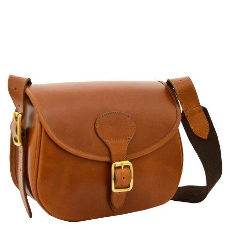 Leather Cartridge Bag 90 Rounds Capacity Tan