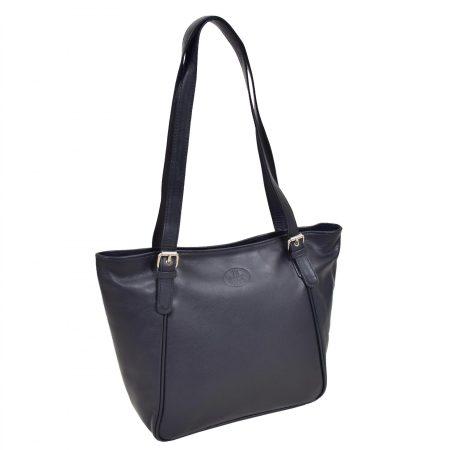Womens Leather RFID Shoulder Hobo Bag Zoey Blue