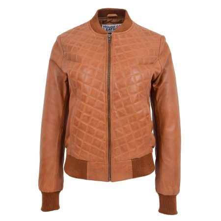 Women's Bomber Varsity Quilted Jacket