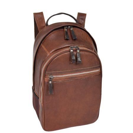 Large Multipurpose Leather Backpack Brown