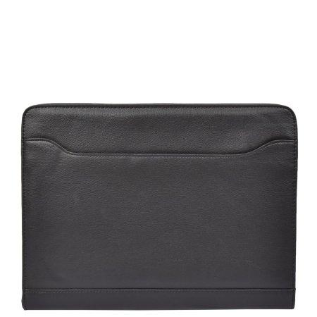 Black Notepad & Calculator Portfolio Case