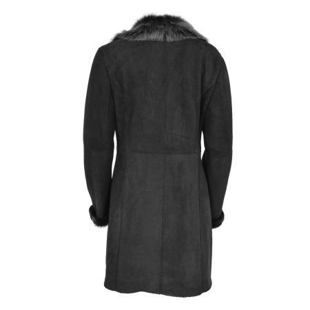 Women's 3/4 Length Sheepskin Coat Toscana Trim