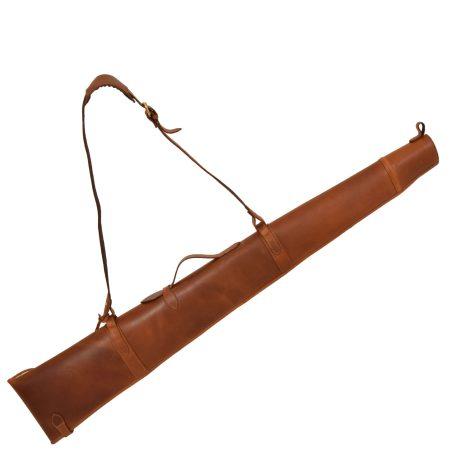 Leather Gun Slip with Shoulder Strap Tan