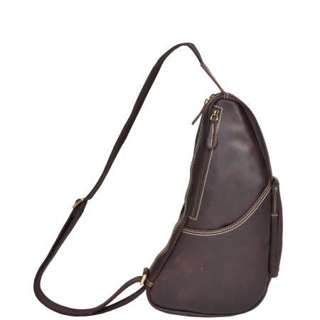 Vintage Leather Back Bag H8059 Brown