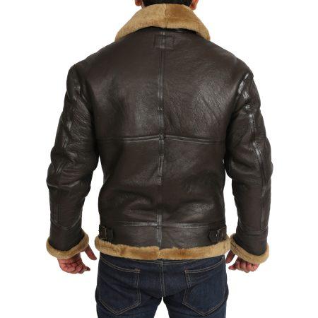 Men's Classic B3 Original Sheepskin Jacket Brown Ginger