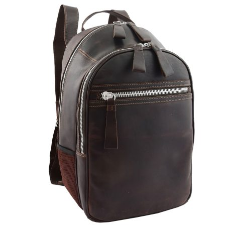 Classic Brown Large Leather Backpack