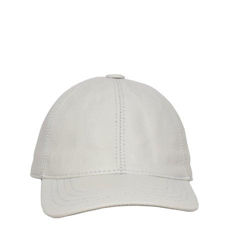 Classic Leather Baseball Cap White