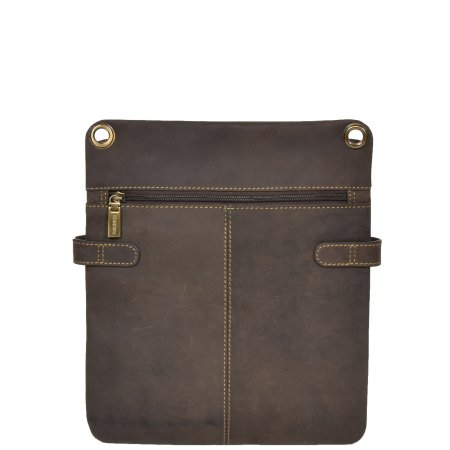 Large Size Leather Sling Bag HOL512 Brown