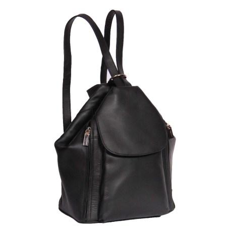 Ladies Leather Backpack Rome Black