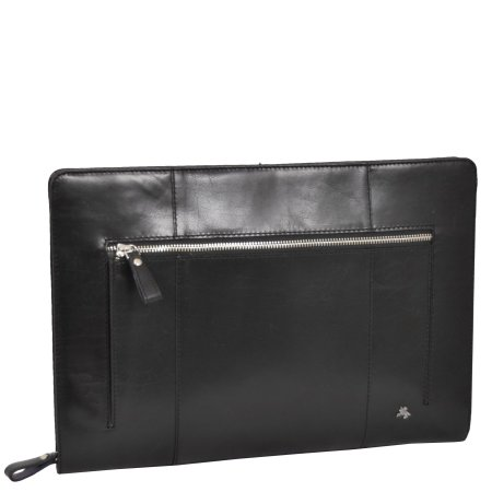 Leather A4 Documents Case Cruise Black