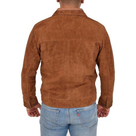 Men's Real Suede Harrington Leather Jacket