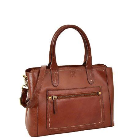 Women's Leather Tote Fashion Handbag Luna Tan