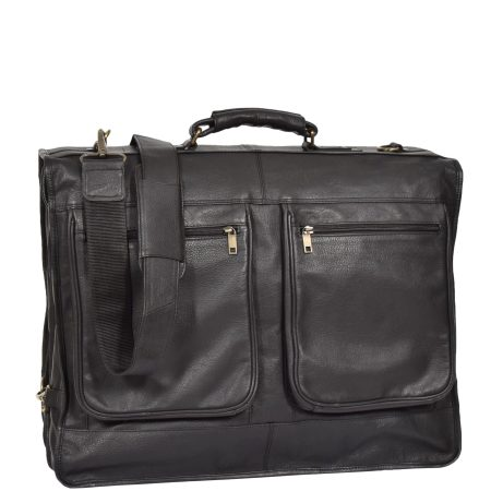 Travel Weekend Leather Suit Carrier Canico Black