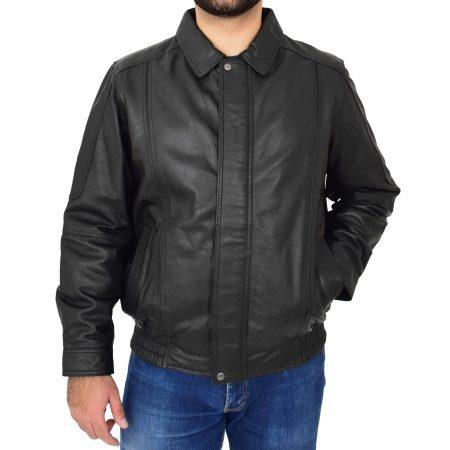 Men's Classic Black Bomber Style Jacket