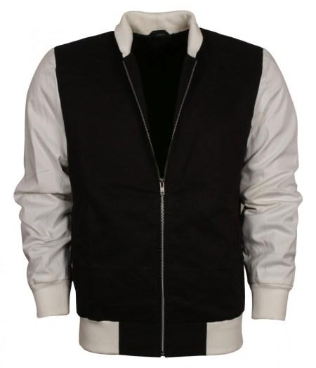 Ansel Elgort Baby Driver Varsity Letterman Jacket for Men