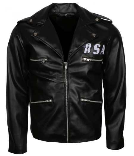 George Michael BSA Faith Rockers Revenge Black Faux Leather Jacket
