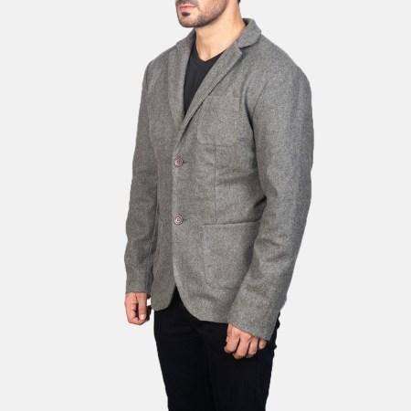 Borges Grey Wool Blazer
