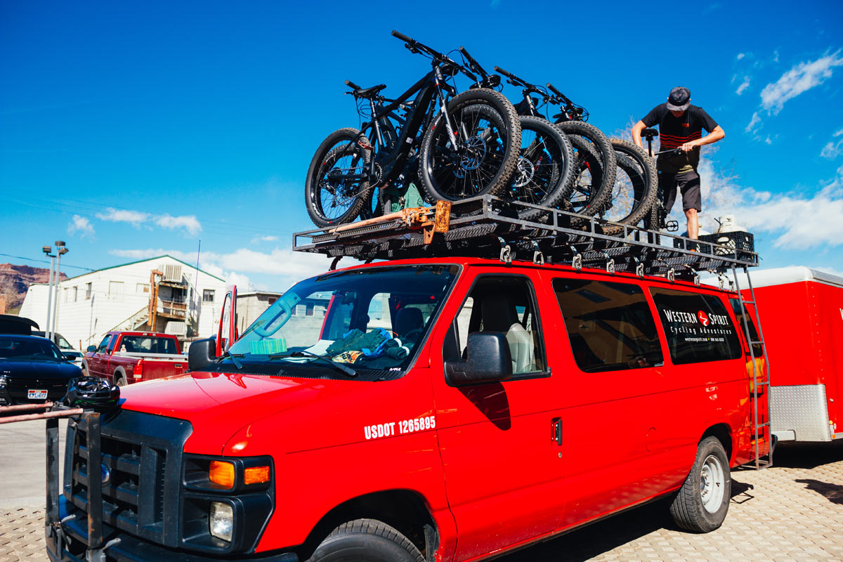 a roof rack to your adventure vehicle