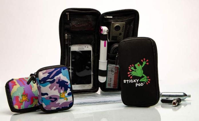 Sticky Pod bicycle wallet holds bike tools Co2 and other stuff inside your jersey pocket