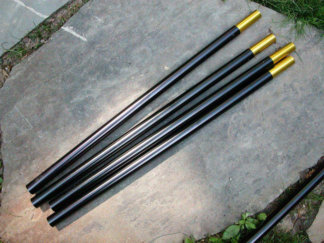 (4) 18u2033 x .626u2033 aluminum tent poles with inserts & 4) 18