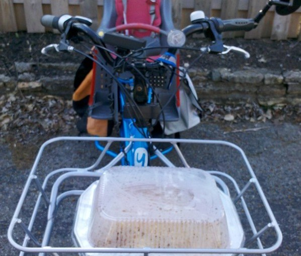 Solving the casserole-by-bike problem