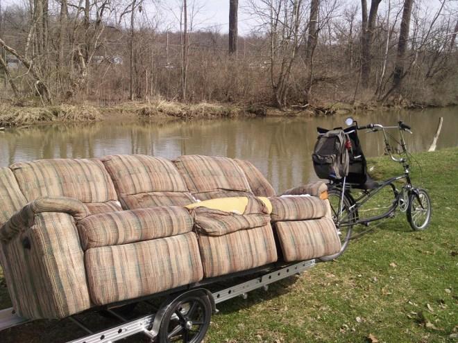 Couch hunting: riverside break