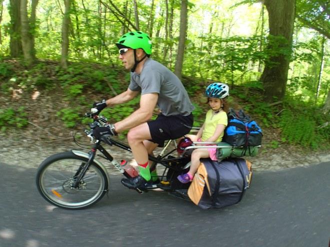 Don loads his bike like a pack horse, rides it like a Thoroughbred.