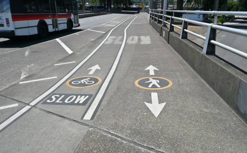 When sidewalks and sidepaths are suitable for bicycling