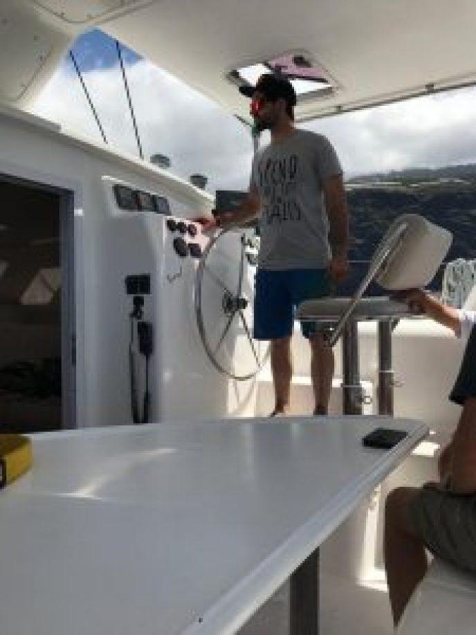 Marc beim Segeln