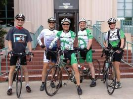 County Supervisor Dave Roberts (fourth from left) on Bike to Work Day last Friday.