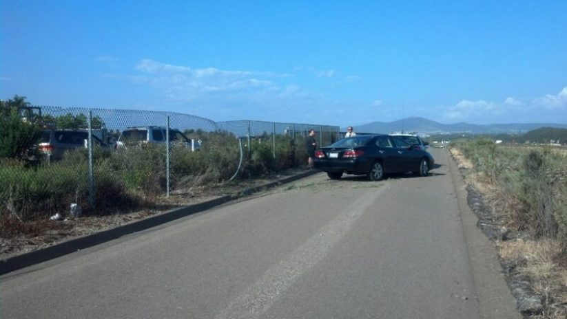 Car on SR-56 bike path and not the first time. Photo: Dr. Dan Valentine